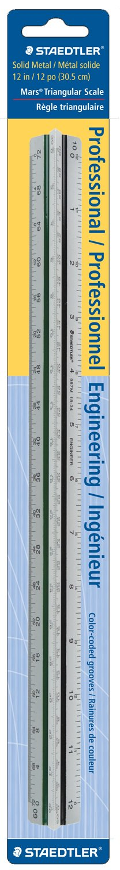 Staedtler 12-Inches Engineer Aluminum Triangular Scale (987M1834BK) #N/A!