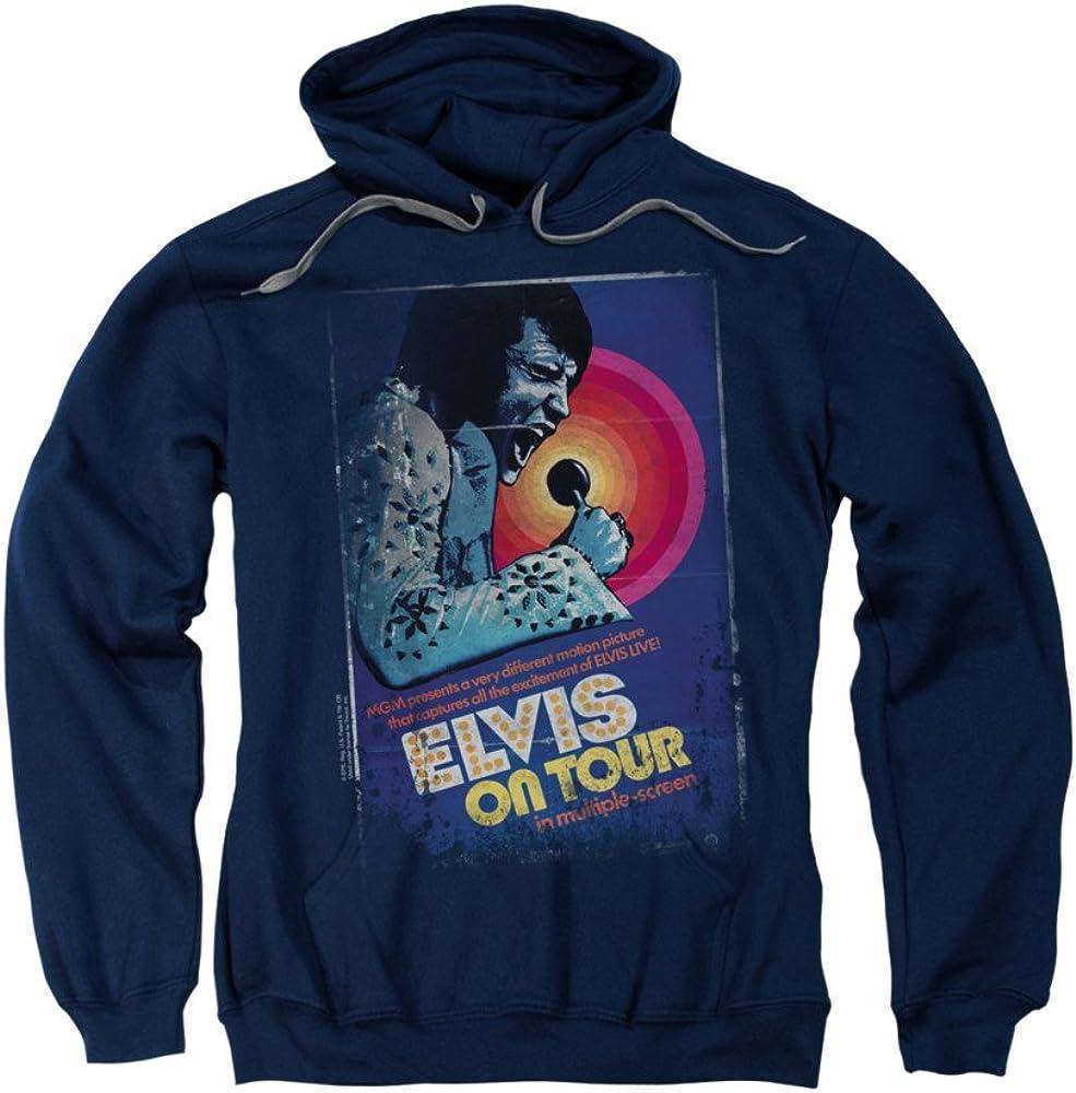 On Tour Poster Adult Crewneck Sweatshirt Elvis