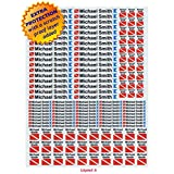 Personalized Waterproof 3M Sticker Labels for Scuba Diving gear, Boating gear, Fishing gear, Kayak gear and camp gear