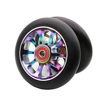 Z-FIRST 2PCS 110mm Hollow Core Pro Scooter Wheels with ABEC 9 Bearings Fit for MGP/Razor/Lucky Pro Scooters (Rainbow) : Sports & Outdoors