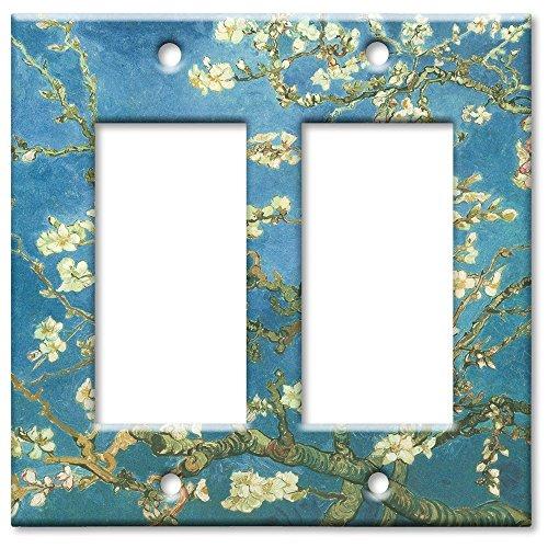 Double Gang Rocker Wall Plate - Van Gogh: Almond Blossoms