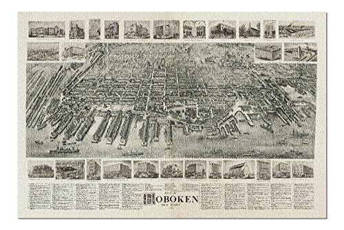 - Hoboken, New Jersey - (1904) - Panoramic Map (20x30 Premium 1000 Piece Jigsaw Puzzle, Made in USA!)