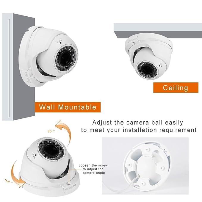 Westshine C/ámara de Seguridad IP 3MP//2MP PoE Power by Ethernet ,C/ámaras Domo de vigilancia para Red en Interiores,Nube P2P detecci/ón de Movimiento 36pcs IR Leds 30 Metros de visi/ón Nocturna