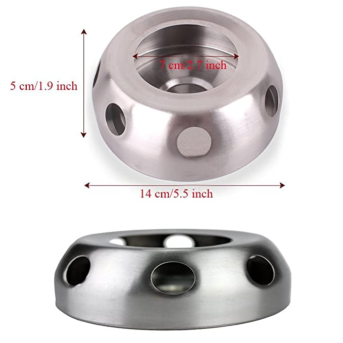 Amazon.com : ezyoutdoor Compact Alcohol Stove Ultra-Light Spirit Alcohol Stove Stand Mini Spirit Burner Durable Alcohol Stove Stainless Steel Camping Burner ...