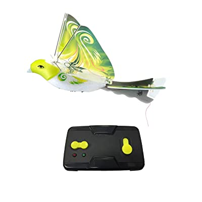 MukikiM eBird Green Parrot - 2016 Creative Child Preferred Choice Award Winning Flying RC Toy - Remote Control Bionic Bird (Newest 2.4GHz Version Featuring USB Charging): Toys & Games