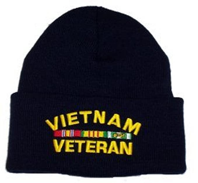 92c429a48bf Image Unavailable. Image not available for. Color  Rush Industries Vietnam  Veteran Knit Cap ...