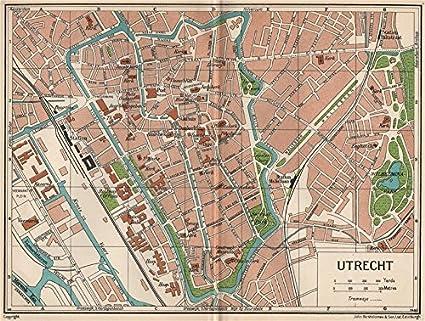 Amazon.com: UTRECHT. Vintage town city map plan. Netherlands - 1933 ...