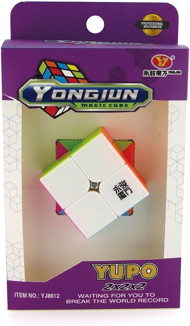Little Treasures Cube Speed 2 x 2 x 2 Stickerless Magic Cube Puzzle, Bright Vivid Colors