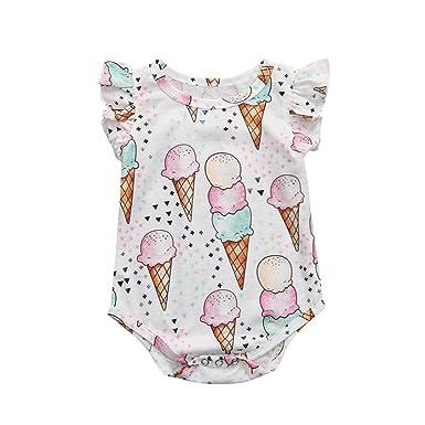Cartoon Owl Fashion Newborn Baby Long Sleeve Bodysuit Romper Infant Summer Clothing