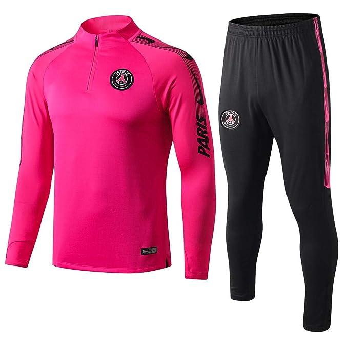 Paris Pink Manga Larga Uniforme de fútbol Abrigos de Primavera y Verano Trajes de Entrenamiento suéter de Barcelona