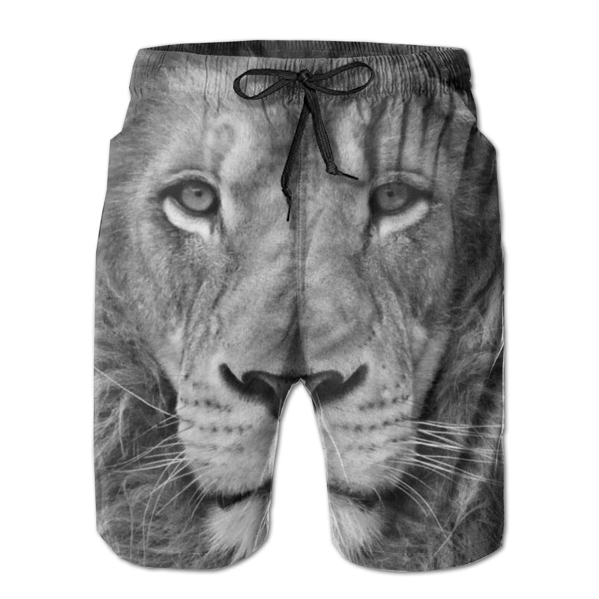 Cool Lion Swim Shorts Mens Swim Trunks Beach Shorts Board Shorts