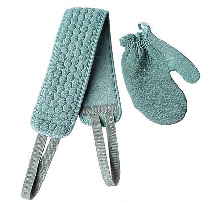 Juego de 2 guantes de baño exfoliantes Toallas de baño para ducha