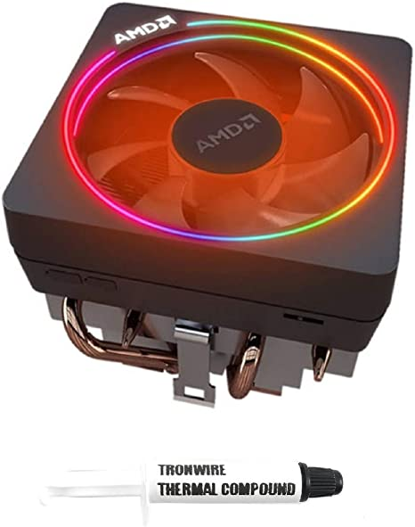 Amazon Com Amd Wraith Prism Rgb Led Lighting Socket Am4 4 Pin Connector Cpu Cooler With Copper Core Base Aluminum Heatsink 4 13 Inch Fan With Tronwire Thermal Paste For Desktop Pc Computer Computers
