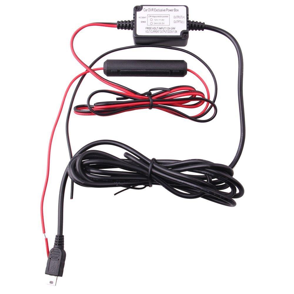 Spytec Mini Hardwire + Fuse Kit Dash Cam Hardwire Mini USB-Keeps 12V Outlet Free