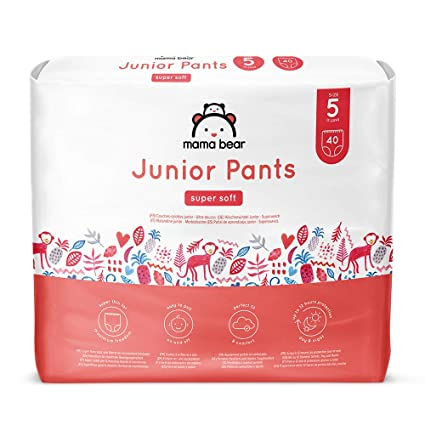 Marca Amazon- Mama Bear Pañal de aprendizaje junior- Talla 5 (13-20kg
