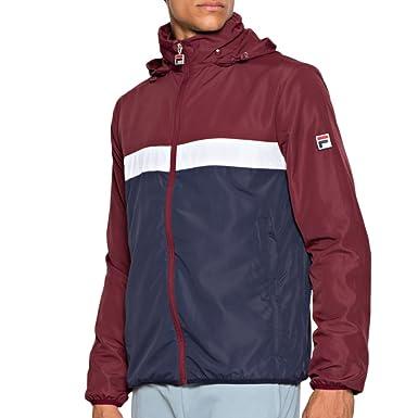 Fila Mens Cipolla2 Peacoat Hooded Packable Jacket L at