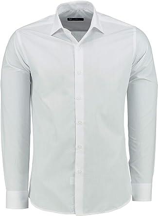 TMK Camisa para Hombre Manga Larga Slim FIT - Camisas de Vestir de Manga Larga para Negocios, Informales, Bodas, Fiestas: Amazon.es: Ropa y accesorios