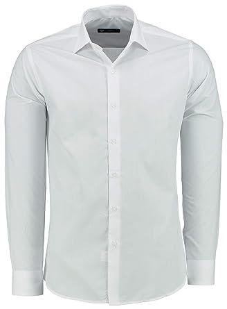 TMK Camisa para Hombre Manga Larga Slim FIT - Camisas de Vestir de ...