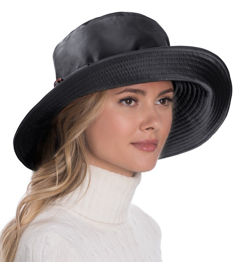Eric Javits Luxury Fashion Designer Women's Headwear Hat - Kaya - Black by Eric Javits