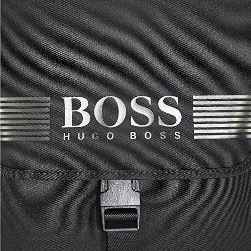 BOSS Green, Pixel NS Flap, Umhängetasche, Nylon/Leder, Black