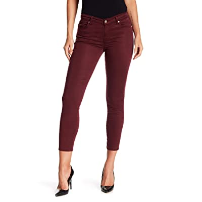 7 For All Mankind, Women's Gwenevere Skinny Ankle Crop Jeans, Boysenberry: Clothing