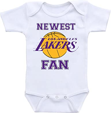 Manta Unisex Newest Lakers Fan Funny Baby Shower Onesie Bodysuit (0-6 Months,