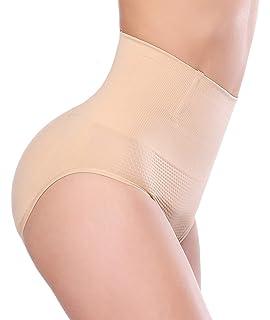 c66c39dde212e NINGMI Women Hight Middle Waist Control Panties Enhancer Underwear Waist  Trainer Briefs ...