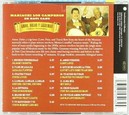 Música ranchera: Amor, Dolor y Lágrimas (Love, Hurt and Tears) by Musica