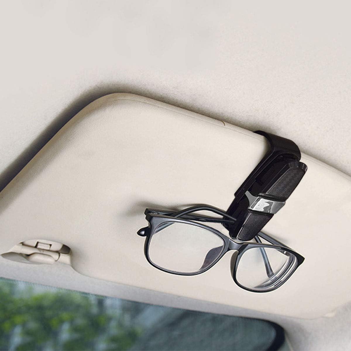 Auto Brillenhalter Sonnenbrillenhalter f/ür Auto Sonnenblende RBNANA 2 Pack