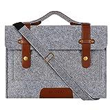 Mosiso Felt Laptop Shoulder Bag for 13-13.3 inch MacBook Pro, MacBook Air, Notebook Computer, Gray