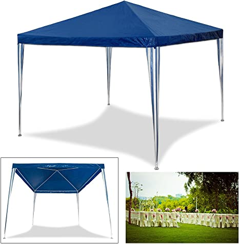 Huigou HG® 3 x 3 m carpa para fiestas, bodas, playa, camping, jardín, resistente al agua