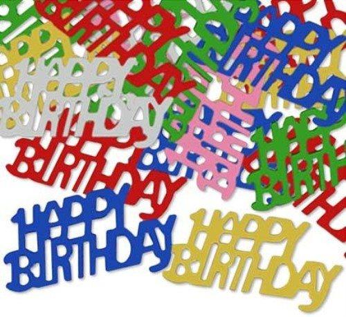 Happy Birthday Fanci-Fetti (multi-color) Party Accessory  (1 count) (.5 - Fetti Multi Color Fanci