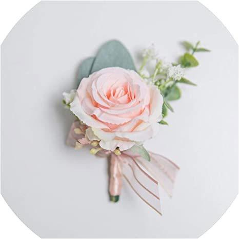 rose chrysanthemum peony Gray fabric flower pin for buttonhole brooch corsage