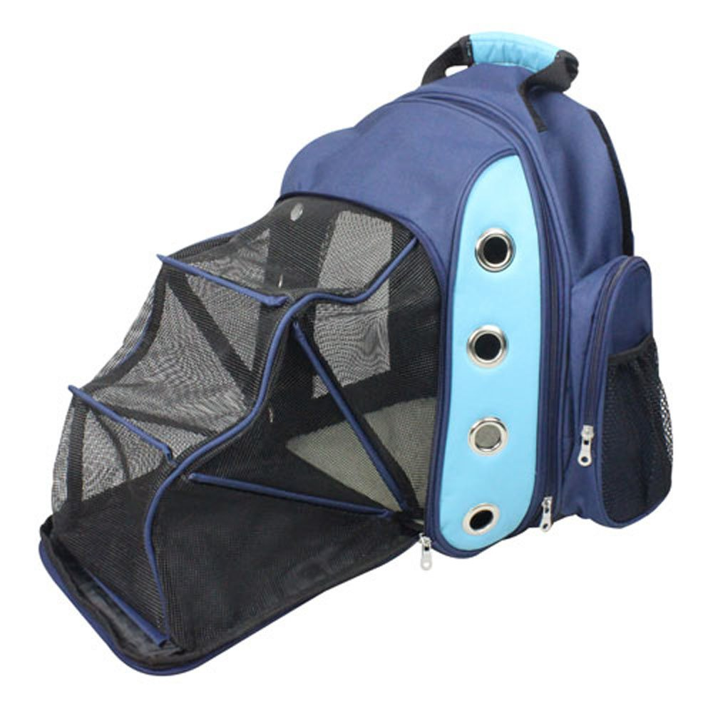 Iconic Pet 51721 FurryGo Luxury Backpack Pet Carrier with LoungeNavy bluee