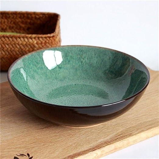 Amazon.com: Canju - Cuenco de cerámica para ensalada de ...