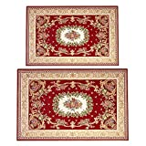 Hihome Area Rugs Set of 2 for Indoor Decoration Floral Rug...