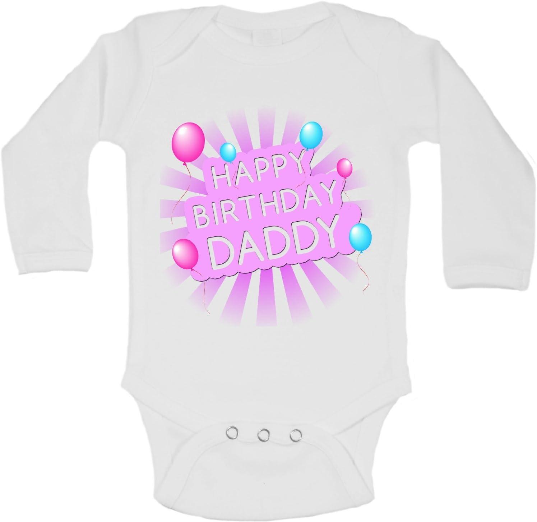 Personnalisé Joyeux Anniversaire Papa filles bébé grandir Body