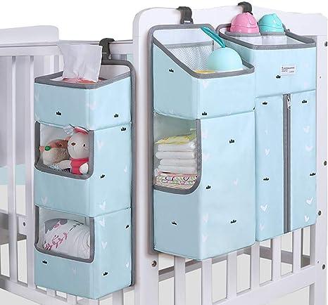 Organizador de guardería y organizador de pañales para bebé, organizador de pañales, apilador de pañales para cambiador de mesa de juegos de cuna: Amazon.es: Bebé