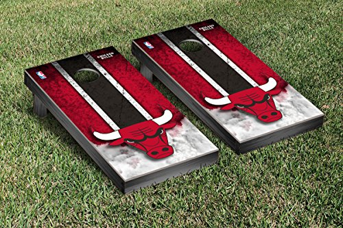 Chicago Bulls NBA Basketball Cornhole Game Set Vintage Version by Victory Tailgate