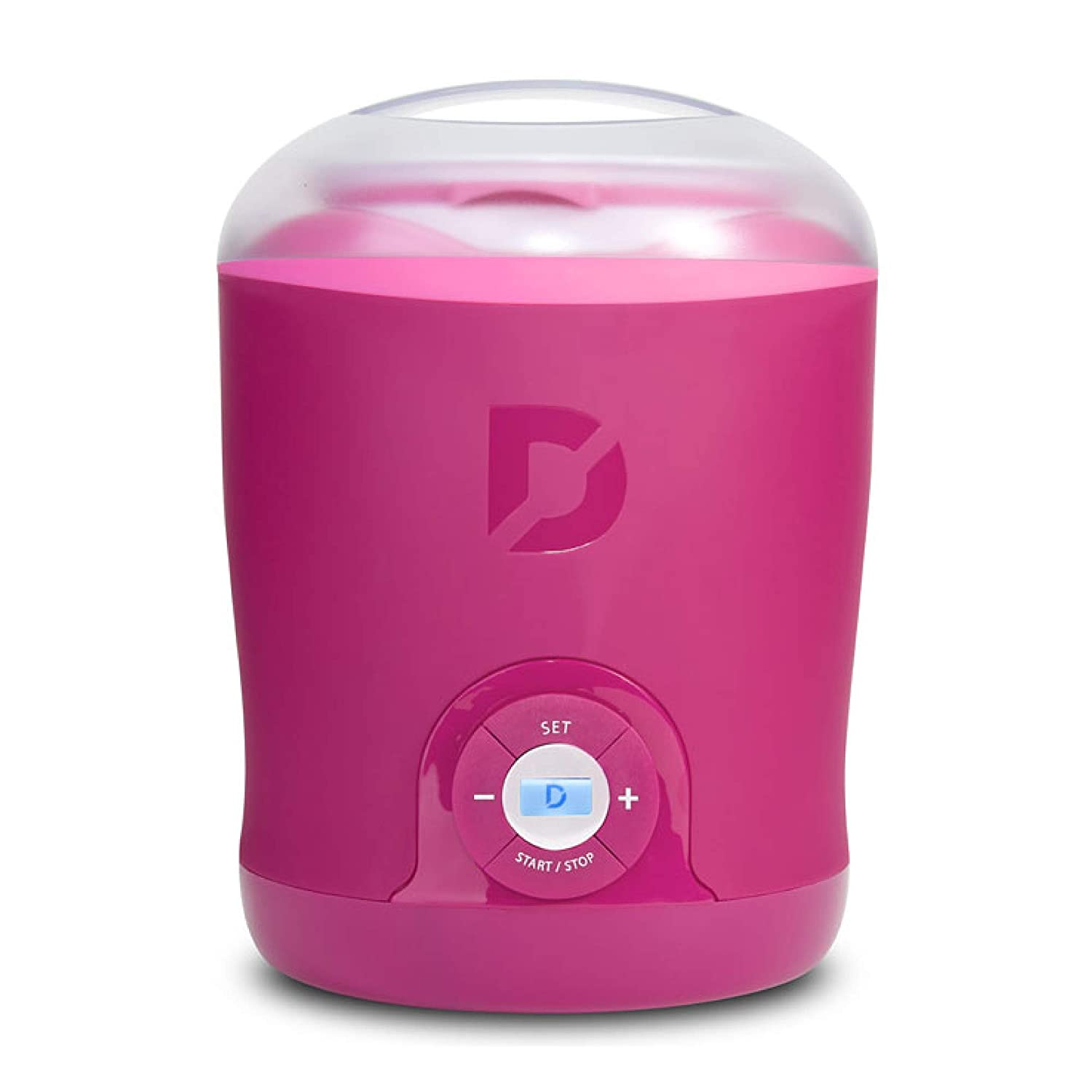 Dash DGY001PK Greek Yogurt Maker Machine with LCD Display + 2 BPA Storage Containers with Lids: Perfect for Organic, Sweetened, Flavored, Plain, or Sugar Free Options for Baby, Kids, Parfaits, Pink