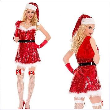traje de navidad Papá Noel SI veste femenina Vestido navideño ...