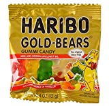 gummy party bear - Haribo Mini Gold Gummy Bears, Multicolored. 54 0.4oz bags.