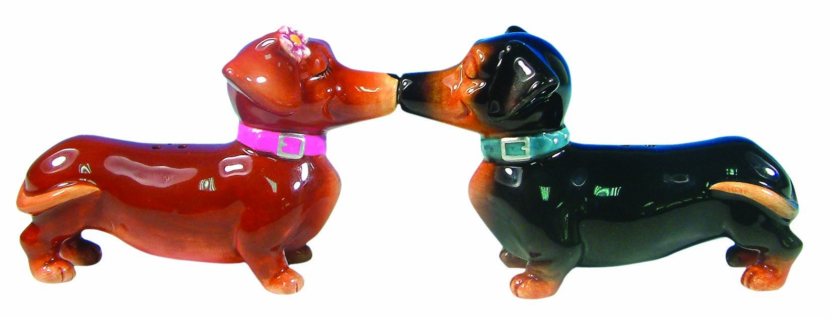 Westland Giftware Mwah Magnetic Dachshunds Salt and Pepper Shaker Set, 2-3/4-Inch by Westland Giftware