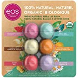 EOS 100% Natural and Organic Shea Lip Balm Sphere Variety Pack 6 Count - Strawberry Sorbet, Sweet Mint, Vanilla Bean…