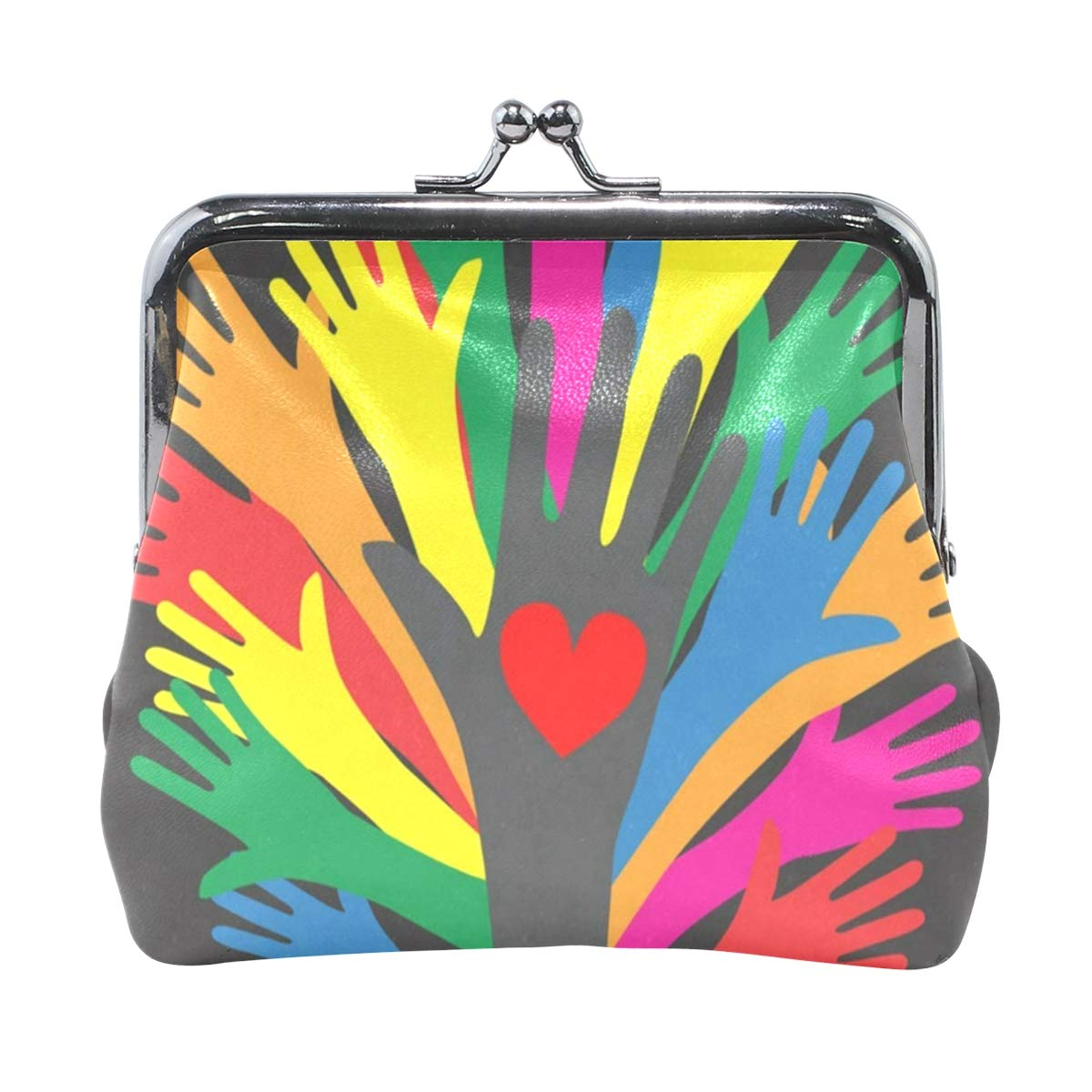 Coin Purse Reaching Hands Womens Wallet Clutch Bag Girls Small Purse