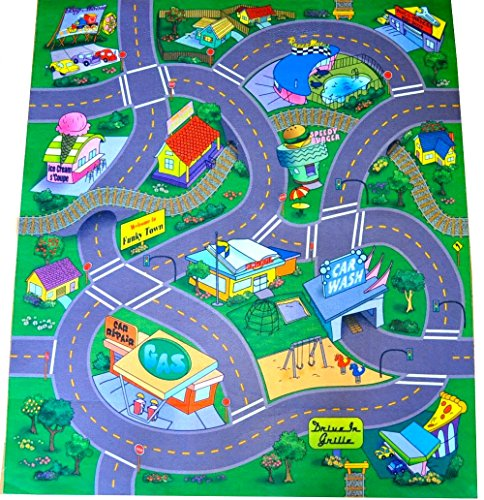 Quot Happy Quot Town Felt Play Mat With Train Track And Roads
