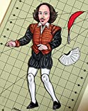 Shakespeare Articulated Paper Doll with Quill and