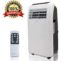 SereneLife Powerful Portable Room Air Conditioner, Compact Home A/C Cooling Unit. Chilling 10,000 BTU with Built-in Dehumidifier, Fan Modes, Remote Control, Complete Window Mount Exhaust Kit