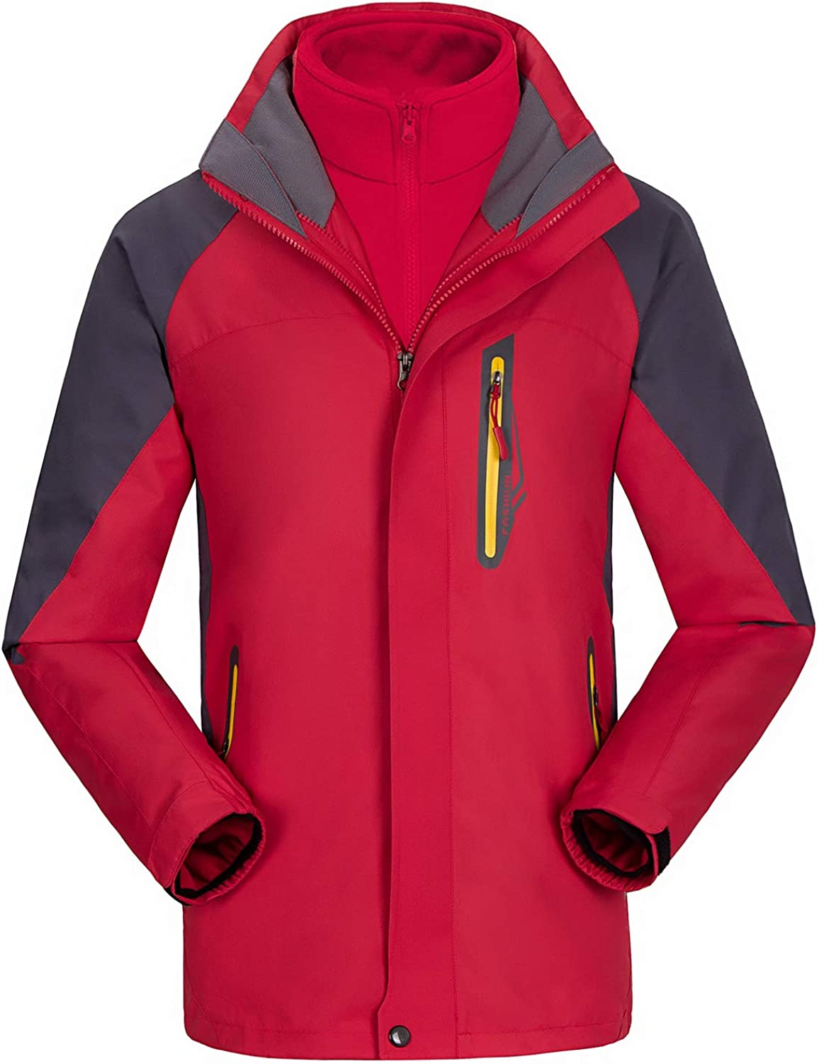 Fleece and Two-Layer Warmth Best Mountain Winter Coat with Windproof Waterproof UINTA OUTERWEAR Mens Ski Jacket