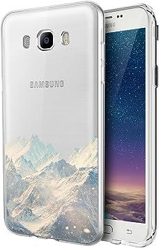 Eouine Galaxy J7 Samsung 2016 Caso, ultra delgado del patrón TPU de protección a prueba de golpes caso de parachoques del gel de silicona Coverng Galaxy J: Amazon.es: Electrónica